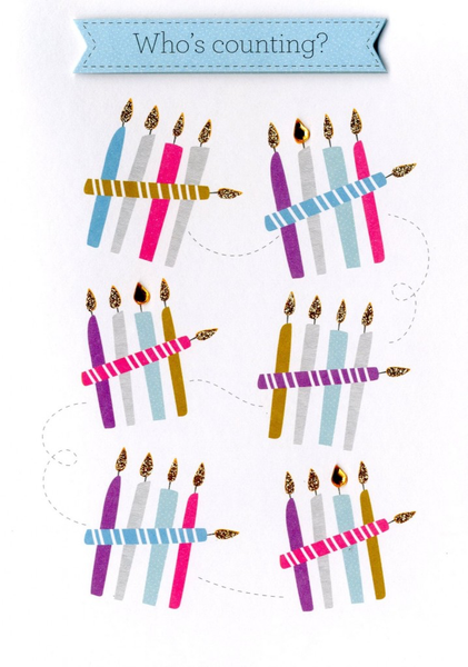 Birthday Greeting Card - Who's Counting