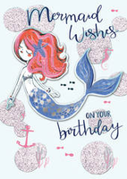 Birthday Greeting Card - Open - Mermaid Songs