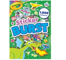 CRAYOLA STICKER BURST PREMIUM BOOK WITH OVER 1000 STICKERS