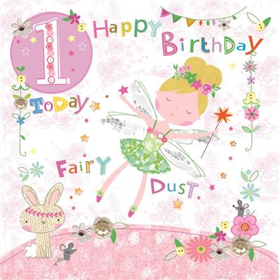 Age 1 Birthday Greeting Card - Tinkerbell