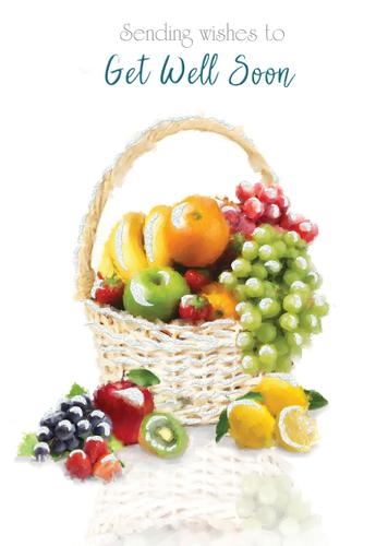 Greeting Card - Get Well Soon - Fruit Bowl