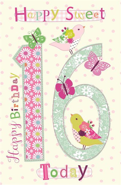 16th Girl Birthday Card