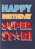 Birthday Greeting Card - Super Star