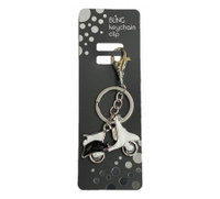 BLING MOPED KEYRING WITH KEYCHAIN & CLIP
