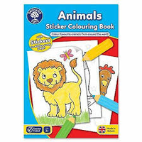 Orchard Toys ANIMAL Sticker and Colouring Book