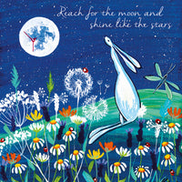 Greeting Card -Reach for the moon...- Blank
