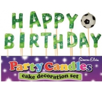 Happy Birthday - Football Pick Letter Candles