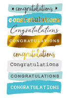 Greeting Card - Congratulations - Blank Inside