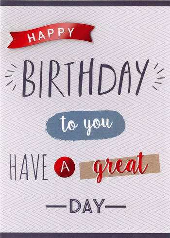Birthday Greeting Card - Happy Birthday to You Lettering - BLANK