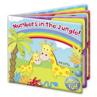 First Steps Bath Book - Numbers in the Jungle 6m+