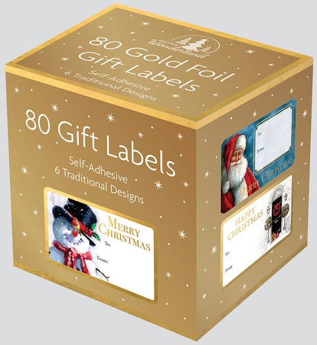 80 GOLD FOIL ADHESIVE LABELS