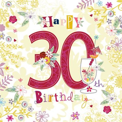 30th Birthday Greeting Card - Female