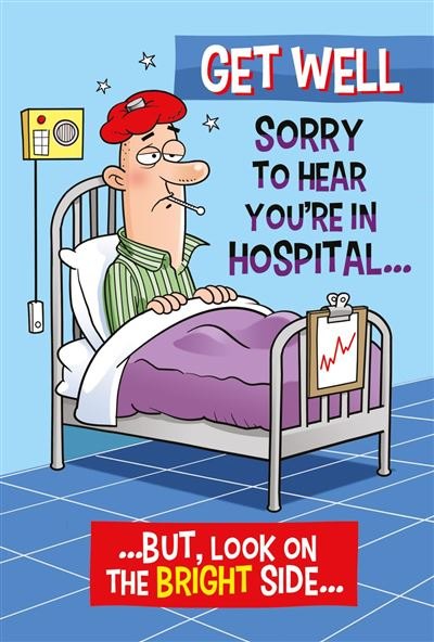 Get Well Greeting Card - Male