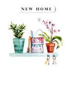 Greeting Card - New Home - Paint & Plants