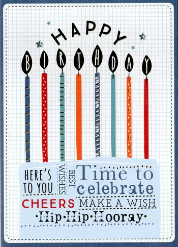 Birthday Greeting Card - Candles