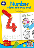 Orchard Toys NUMBER Sticker and Colouring Book