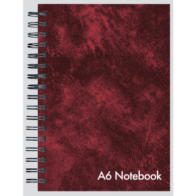 CLUB A6 LEATHER LOOK TWIN WIRE NOTEBOOK