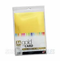 A4 Gold Card - 4 sheets 270gsm
