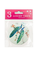 Peacock luxury tag Pack of 3