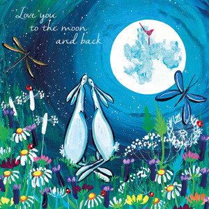 Greeting Card -Love you to the moon and back- Blank
