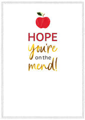 Greeting Card - Get Well - Apple
