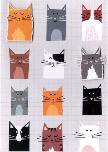 Greeting Card - BLANK - Cats