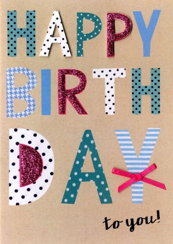 Birthday Greeting Card - Happy Birthday Wording - Female
