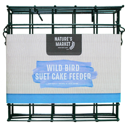 Green Suet Cake Bird Feeder
