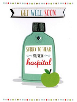 Greeting Card - Get Well Soon - Sorry To Hear You're in Hospital
