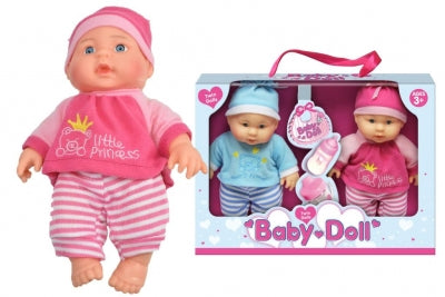 "9"" VINYL TWIN DOLLS BABY DOLLS IN WINDOW BOX"