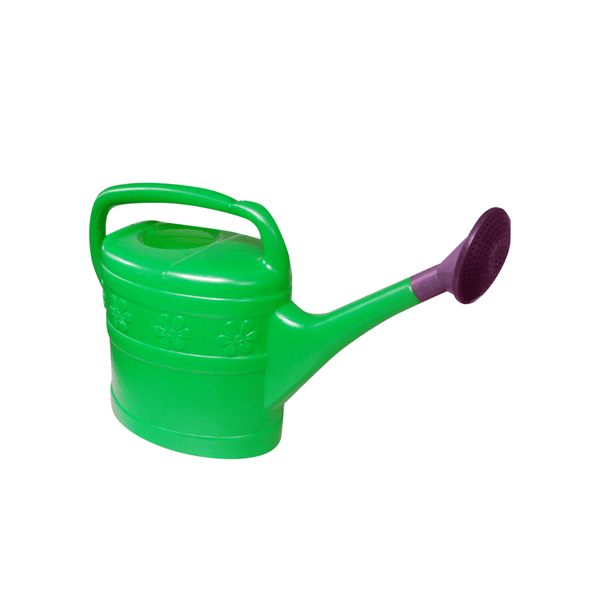 10L Plastic Watering Can with Rose