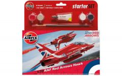 Airfix 1/72 Medium Starter Set - RAF Red Arrows Hawk