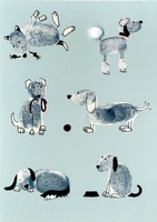 Greeting Card - Dogs - BLANK