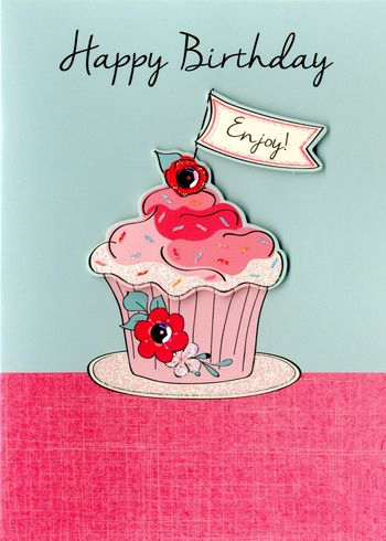 Birthday Greeting Card -Cupcakes