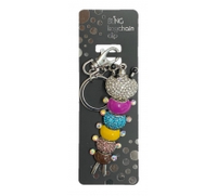 BLING CATERPILLA KEYRING WITH KEYCHAIN & CLIP