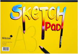 A3 ARTIST'S SKETCH PAD 100GSM WHITE PAPER. 16 PAGES.