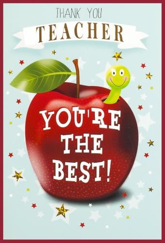 Greeting Card - Thank You Teacher - You're The Best