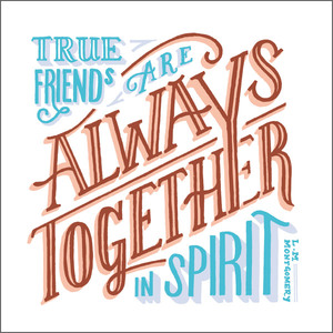 Greeting Card -True Friends - Blank