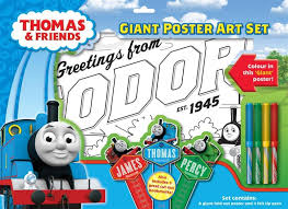 THOMAS & FRIENDS GIANT POSTER ART SET WITH PENS