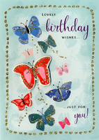 Birthday Greeting Card - Butterflies