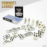 28 Piece Double Six Dominoes & 2 Pack Playing Card Classic Game