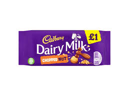 £1 Bar Cadbury Dairy Milk Chopped Nut 95g