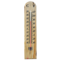 Large Traditional Wooden Indoor or Outdoor Thermometer for Home or Garden