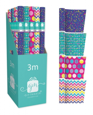 Roll of Wrapping Paper - Bright - FEMALE