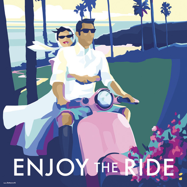 Greeting Card -Enjoy The Ride - Blank
