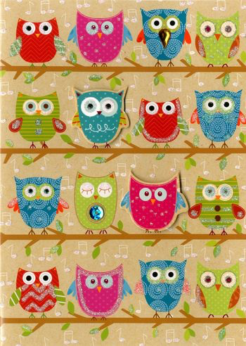 Greeting Card - Owls - BLANK