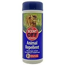 Vitax Scent Off Animal Repellent GRANULES-Training Cats Dogs Discourages Fouling