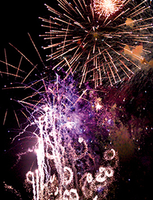 Greeting Card -Fireworks- Mini card