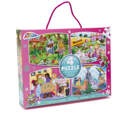 4 PACK PUZZLE COLLECION GIRLS