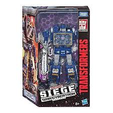 Transformers SIEGE Voyager Class Autobot Soundwave Action Figure